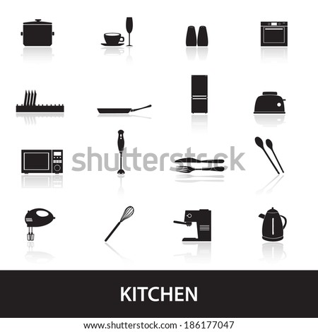 home kitchen icon eps10