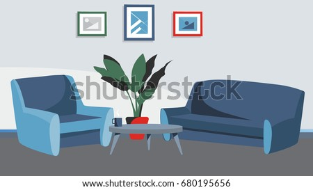 Home Livingroom Background Vector For Cartoon Animation Advertise Campaign