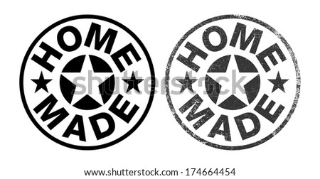 Home made rubber stamp ink - stock vector