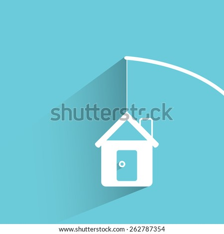 home mortgage - stock vector