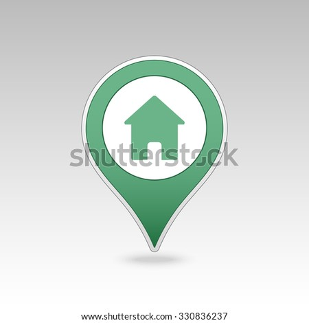 Home pin map icon. Map pointer. Map markers. Vector illustration EPS10