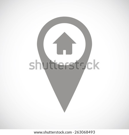 Home pointer web black icon on a white background. Vector symbol