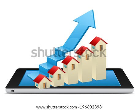 Home progress bar - stock vector