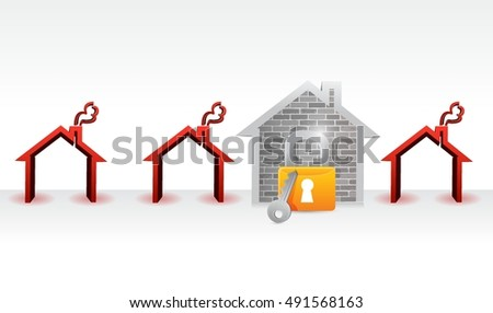 home protection concept illustration design graphic over white