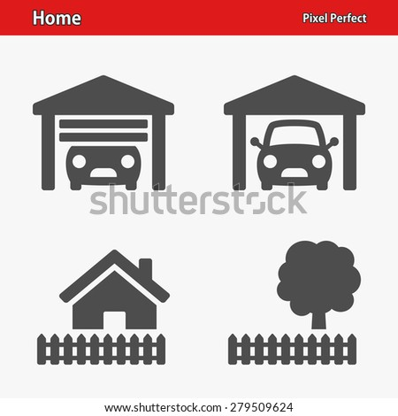 Home & Real Estate Icons. Professional, pixel perfect icons optimized for both large and small resolutions. EPS 8 format. Designed at 32 x 32 pixels. - stock vector