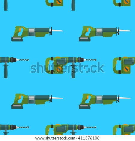 home remodel tools seamless pattern background