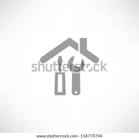 Home repair icon - stock vector