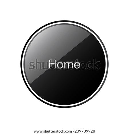 Home    round black glossy button for the site, vector, EPS 10