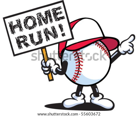 Home Run - stock vector