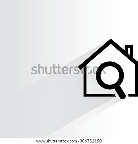 home search - stock vector
