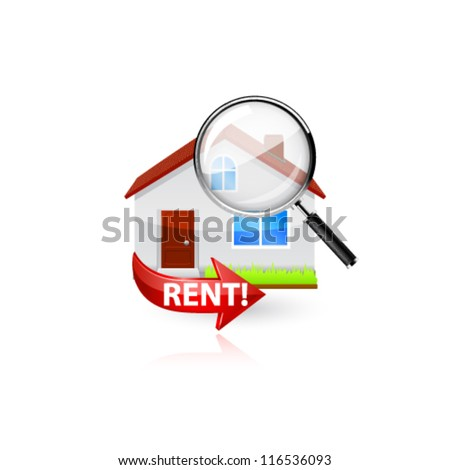 Home search icon. Vector