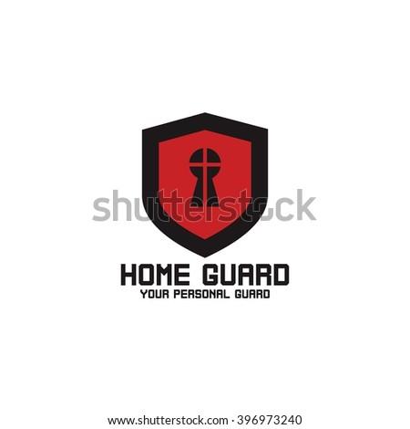 classy chair logo design. Home security logo design template  Guard your house Vector Illustration Security Logo Design Template Stock 396973240