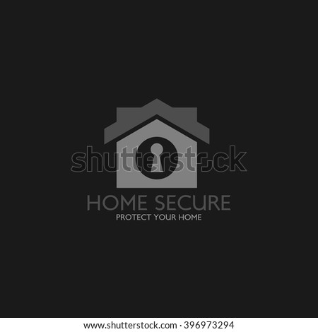 Home security logo design template. Guard your house. Vector Illustration - stock vector