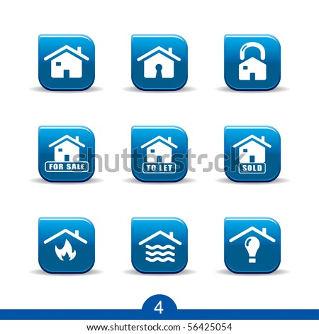 home services icons no.4..smooth series - stock vector