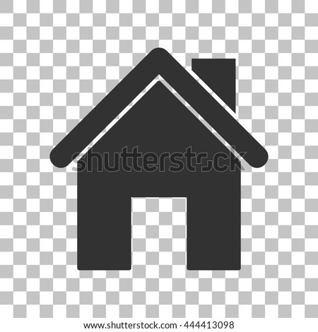 Home silhouette illustration. Dark gray icon on transparent background. - stock vector