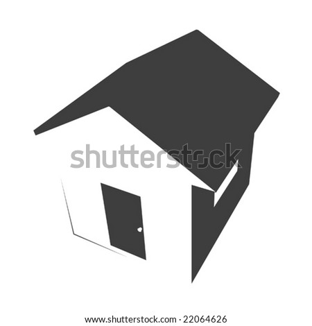 home stencil - stock vector
