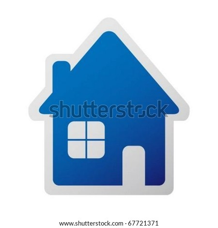 Home sticker icon - stock vector