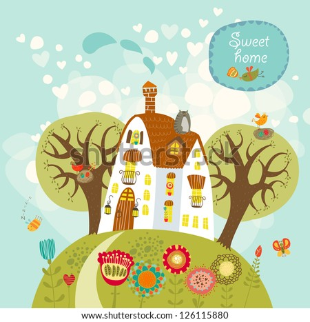 Stock Images similar to ID 126234812  home sweet home card vector