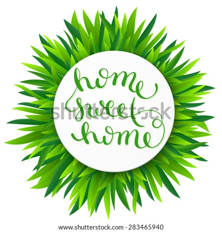 Home sweet home, handmade calligraphy, vector illustration - stock vector