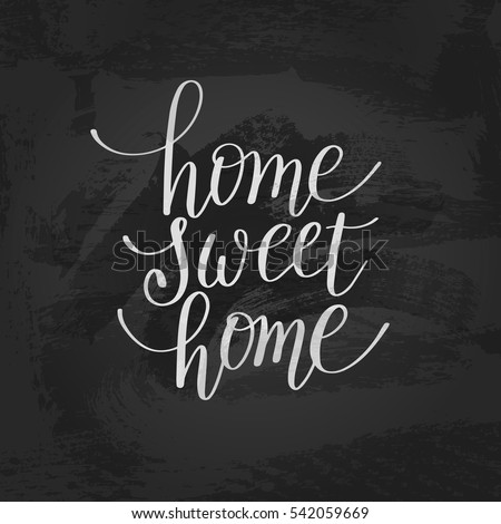 home sweet home designs. home sweet handwritten calligraphy lettering quote to design greeting  card poster banner Home Sweet Handwritten Calligraphy Lettering Stock Vector