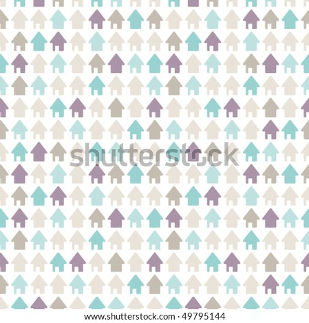 Home sweet home house pattern in vector - stock vector
