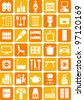 Home, Sweet Home icons - stock vector