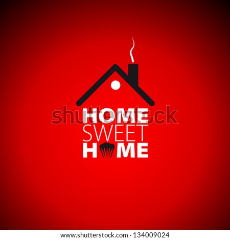 Home sweet home red card - vector illustration - stock vector
