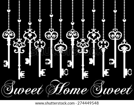 Home Sweet Home, Vector Version - stock vector