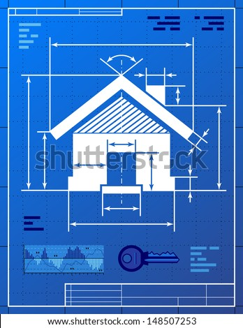 Home symbol like blueprint drawing stylized stock vector 148507253 home symbol like blueprint drawing stylized drawing of house sign on blueprint paper qualitative malvernweather Image collections