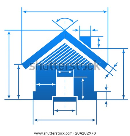 Home symbol like blueprint drawing stylized vectores en stock element of blueprint drawing in shape of house sign malvernweather