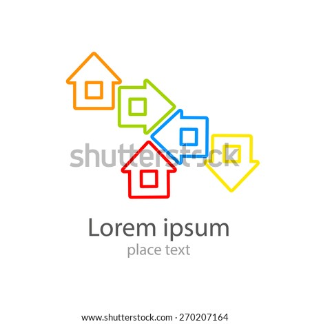 Home - template for the logo: real estate, housing, registration, etc.. - stock vector