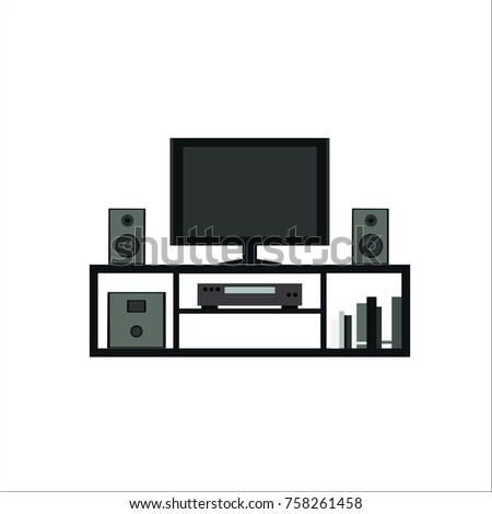 Home theater system icon. Vector illustration