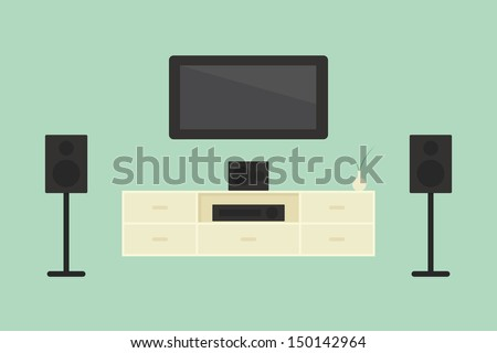 Home theater, vector - stock vector