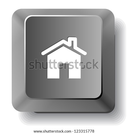Home. Vector computer key. - stock vector