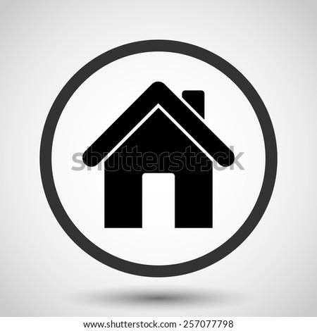 Home vector icon - black illustration - stock vector
