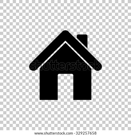 home vector icon - black illustration - stock vector