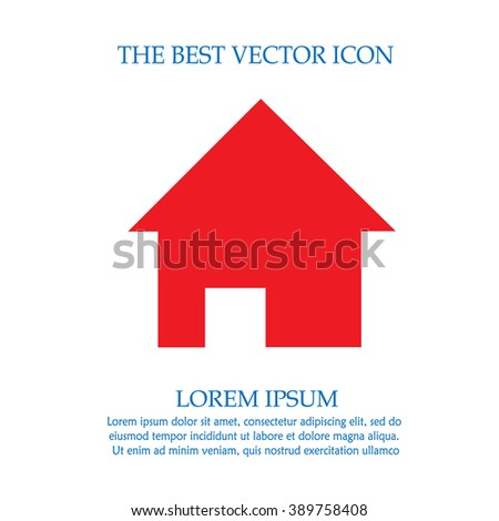 Home vector icon. House simple isolated sign symbol.
