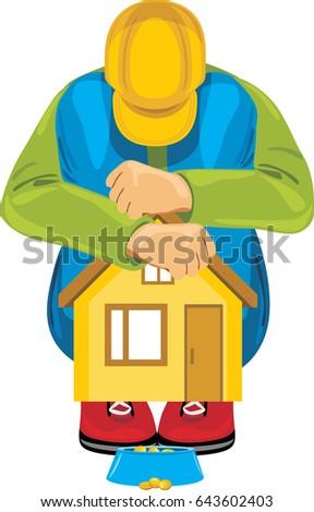stock-vector-homeless-man-vector-6436024