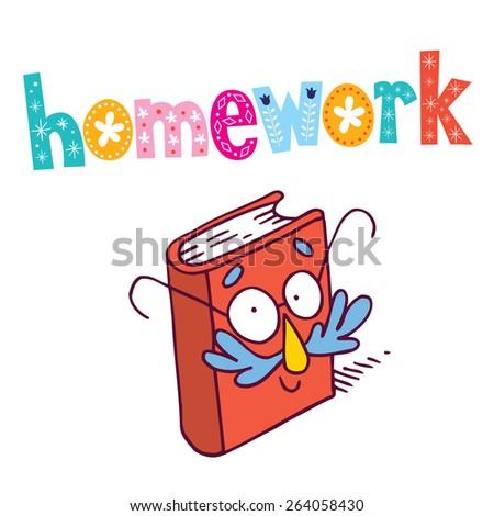 homework - stock vector