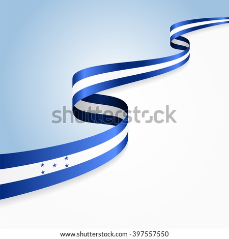 Honduras flag wavy abstract background. Vector illustration. - stock vector
