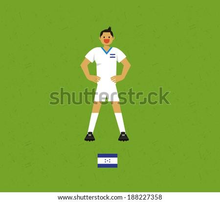 Honduras Soccer Tables  - stock vector