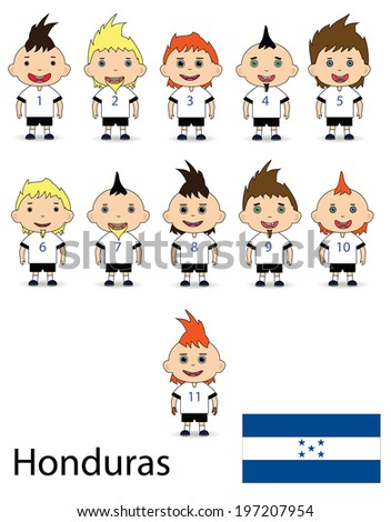 Honduras team football on a white background. Vector - stock vector