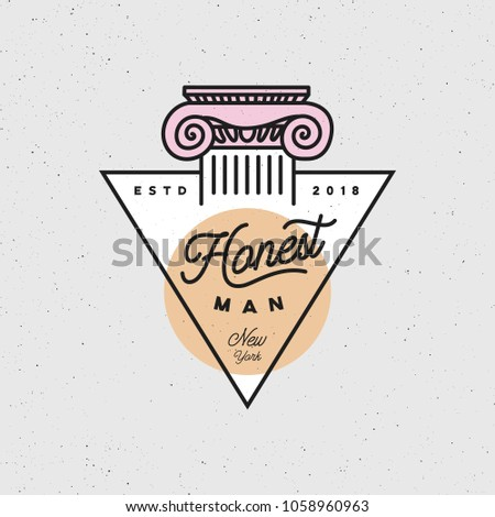 Honest Man Clothing Company Label Menswear Stock Vector 1058960963