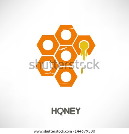 honey - stock vector
