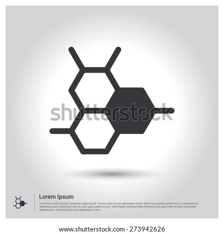 Honey bee icon hexagon connectivity logo stock vector 273942626 hexagon connectivity logo pictograph icon on gray background vector illustration voltagebd Choice Image