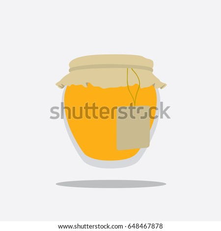 Honey icon, vector illustration design. Sweets collection.