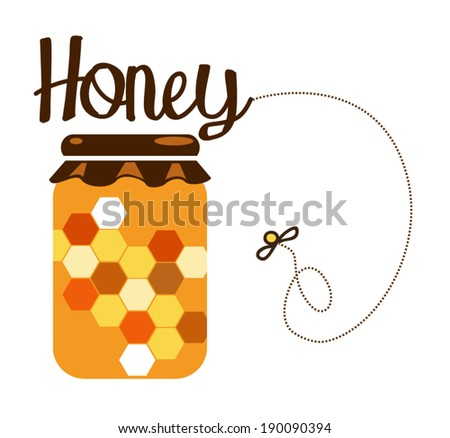 honey jar  - stock vector