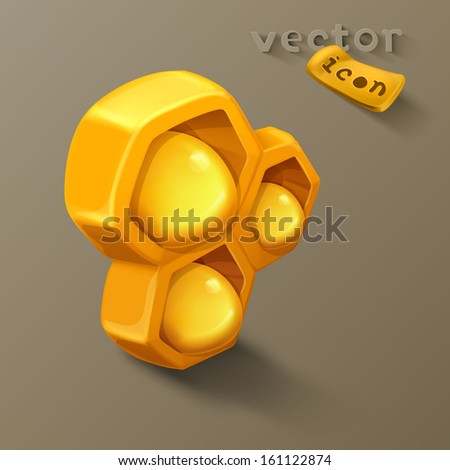 Honeycomb icon - stock vector