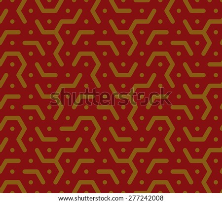 Honeycomb pattern in red tones