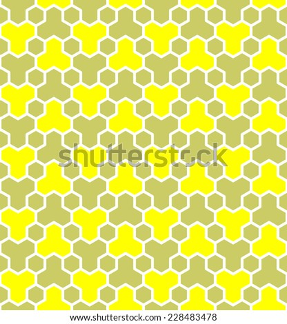 Honeycomb pattern. Seamless geometric hexagons pattern. Vector art. - stock vector